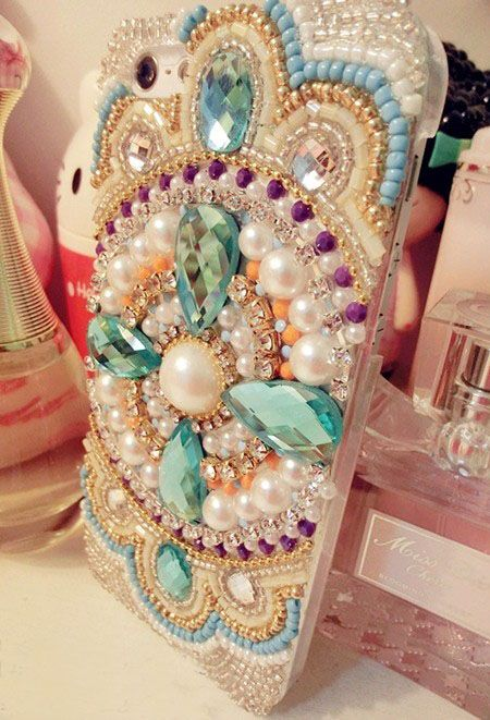 2015 HOT ! Handmade Pearl Bohemia Crystal Rhinestone Girly Case For Iphone 6s Case,iphone 6s Plus C on Luulla