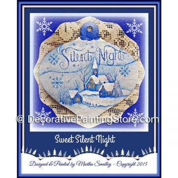 Silent Night Ornament ePattern - Martha Smalley - PDF DOWNLOAD