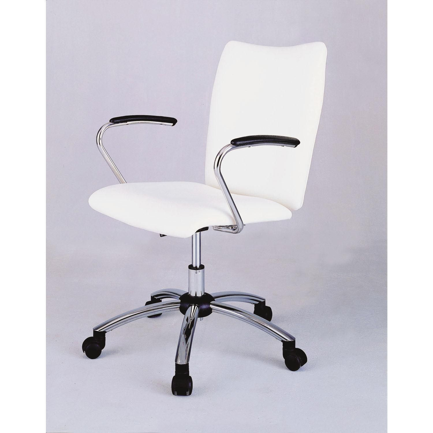 White Desk Chairs For Teens With Arm Rest For Home