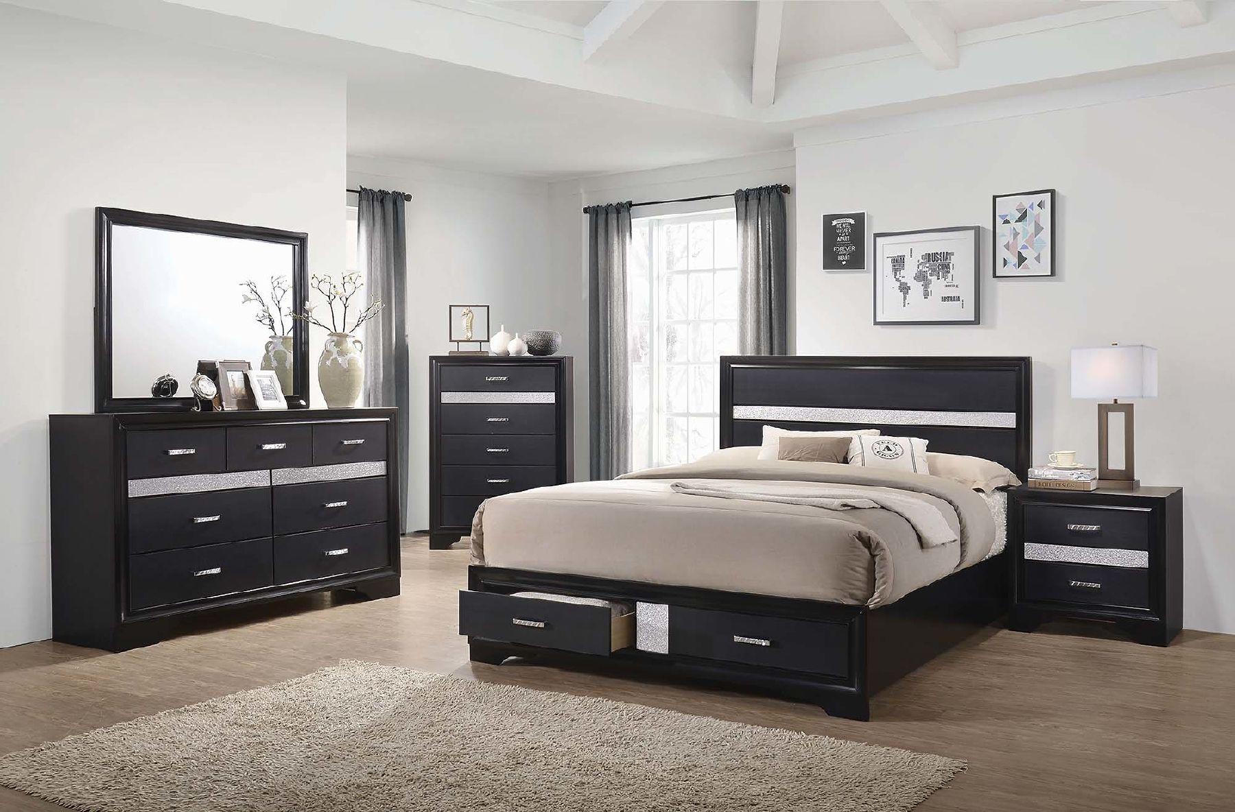 Miranda Black King Size Bed 206361ke Coaster Furniture King Size Beds In 2021 Bedroom Sets Queen Bedroom Furniture Sets Master Bedroom Furniture