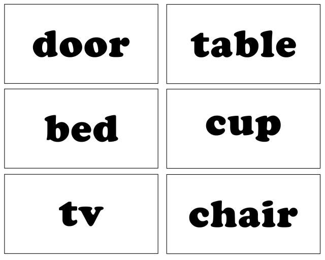 Sight Words House Items Free Printable Coloring Pages Printable Flash Cards Vocabulary Flash Cards Flash Card Template