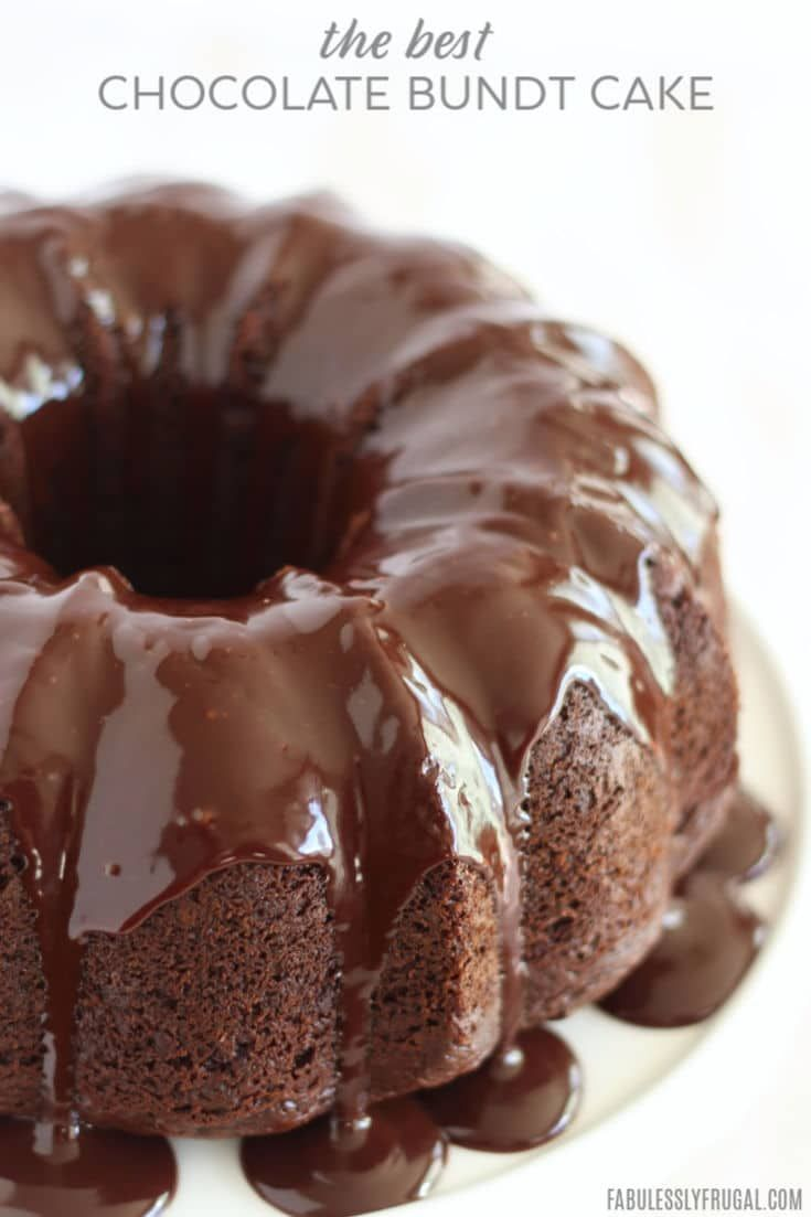 The Best Chocolate Sour Cream Bundt Cake #sourcream