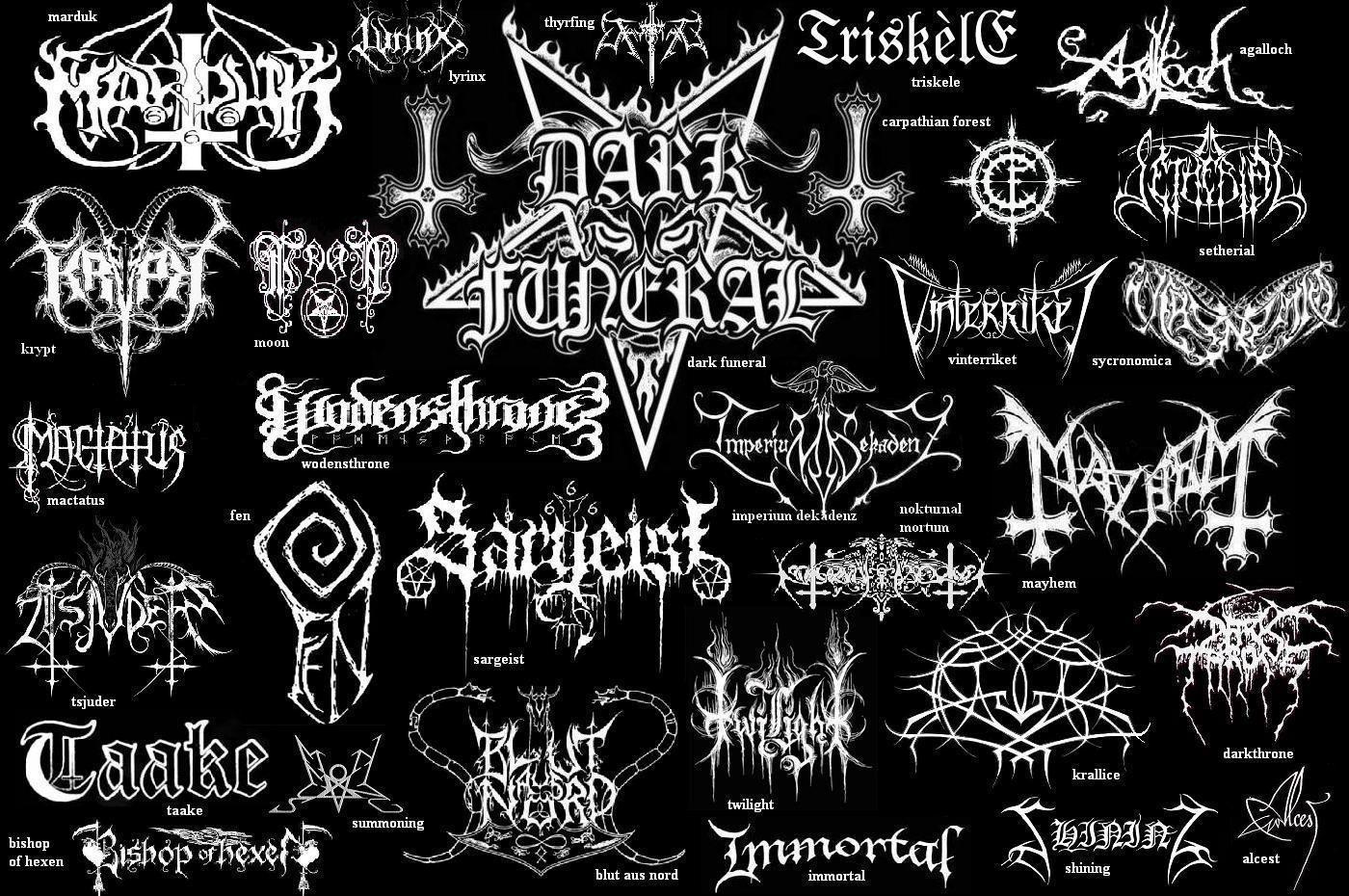Black Metal Band Names | spasm in 2019 | Metal font, Metal