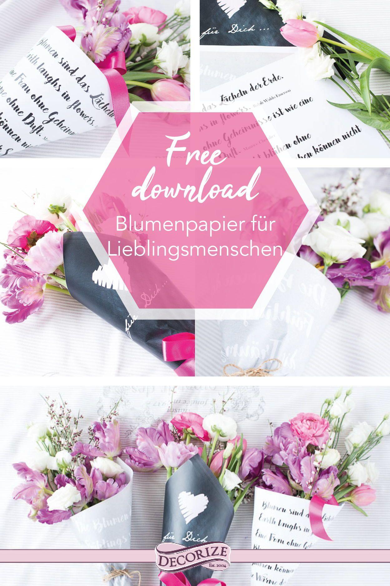 Free Download Blumen Papier Zum Einwickeln Und Verschenken Blumen Aus Papier Verschenken Kleine Geschenke