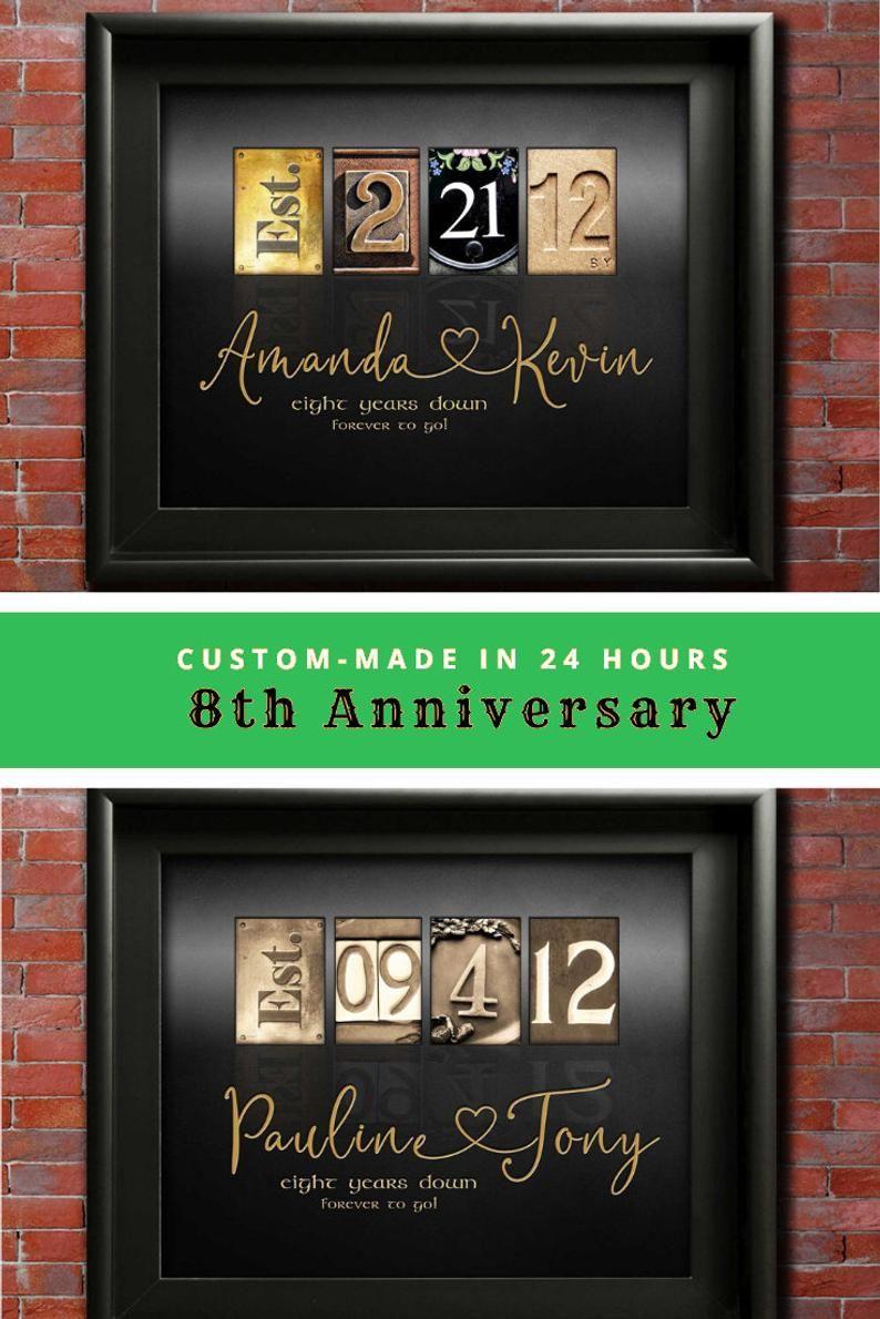 8th anniversary gift ideas eight wedding anniversary gifts