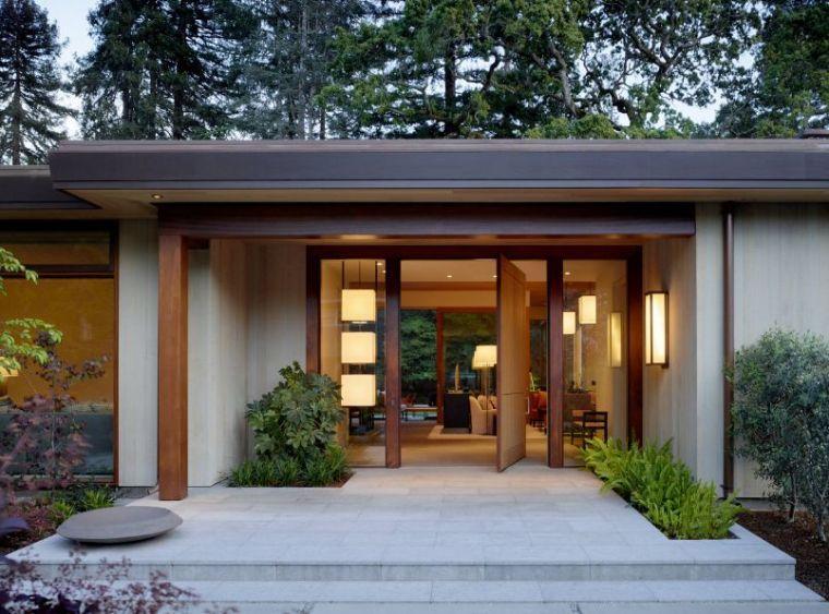 Aménager une entrée de maison moderne | Indoor pond, Walkways and ...