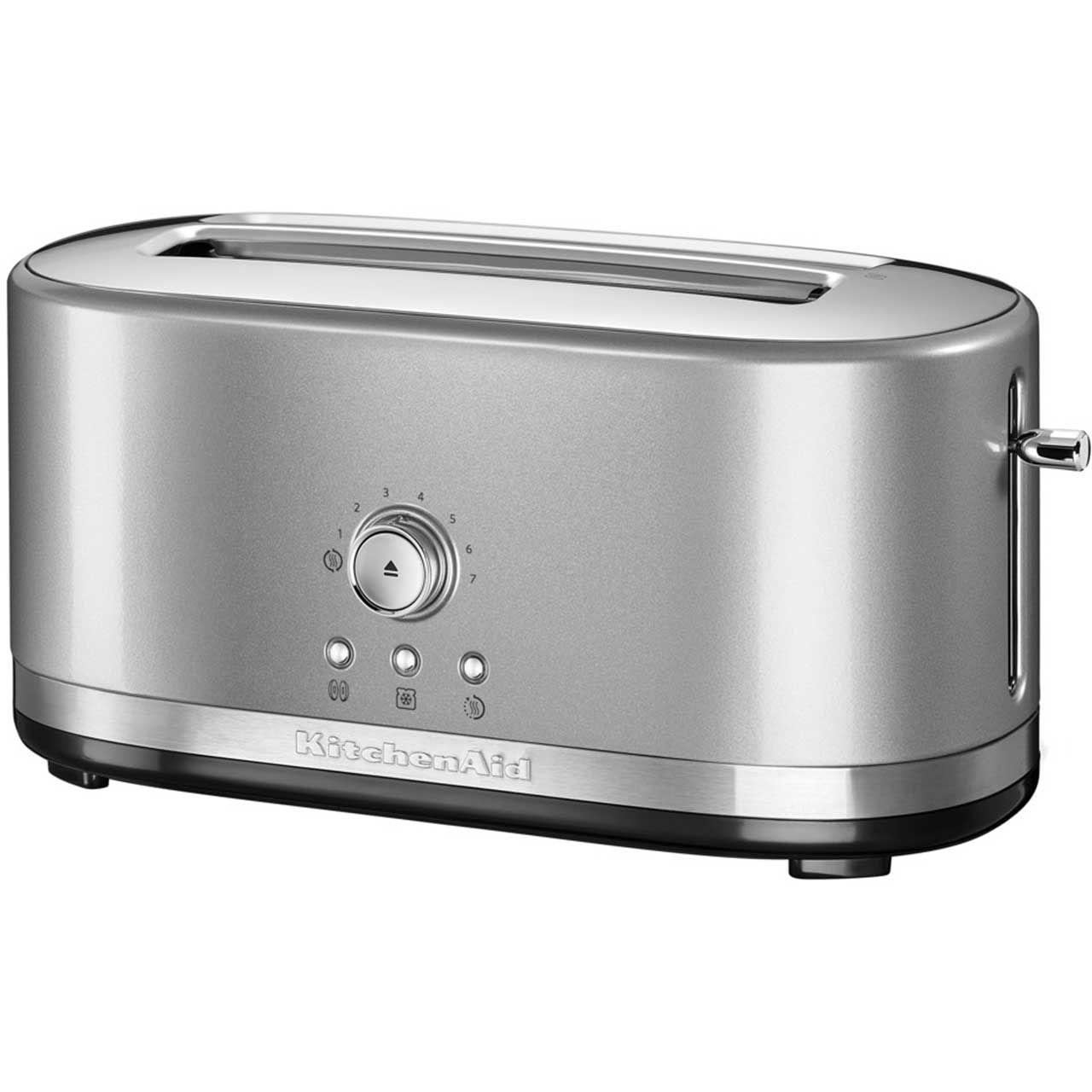 kitchenaid long slot toaster white