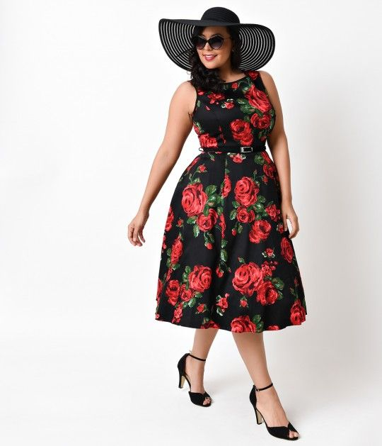 The Hepburn Dress is a clean confection in a plus size retro dress style…
