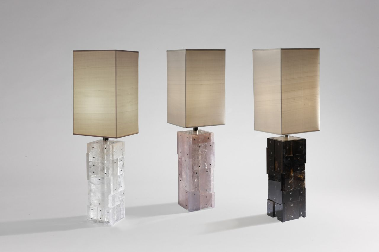 Rock Crystal lamp   From a unique collection of more art at http://www.1stdibs.com/art/more-art/