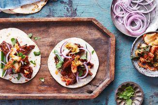 Air-Fryer Korean-Style Beef Tacos #tacorecipes