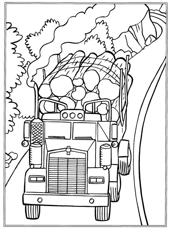 Coloring page Trucks Trucks on