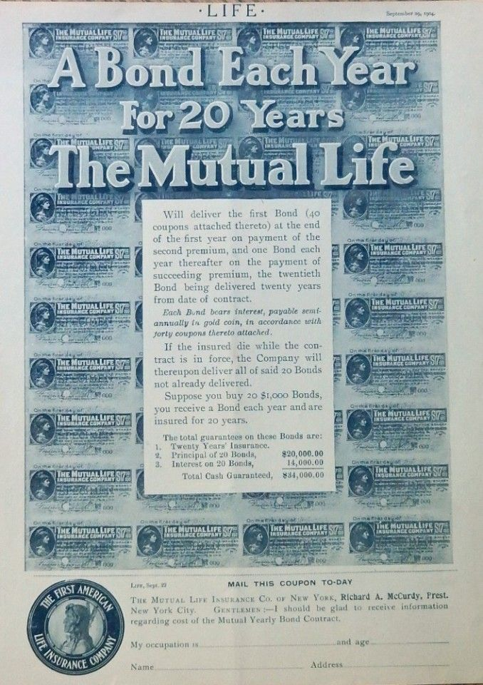 The First American Life Insurance Company Mutual Life 1904 Print