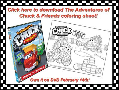 The Adventures Of Chuck Friends Friends To The Finish On Dvd Free Color Printables Party Printables Free Free Coloring