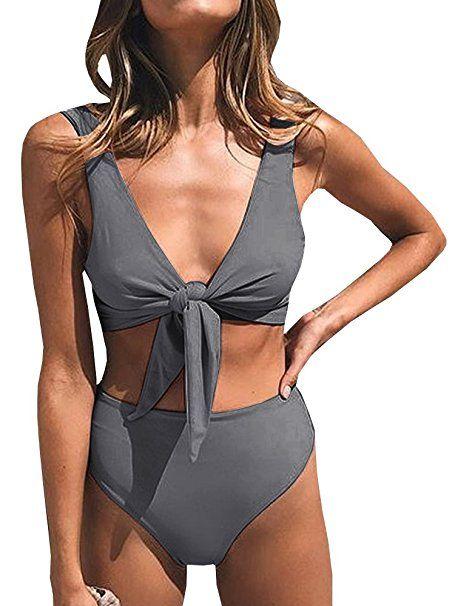 Damen Bikini Set Bademode Push Up Gepolstert Einstellbar Badeanzug Schwimmanzug
