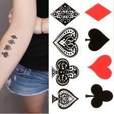 Resultado de imagem para playing cards tattoo designs