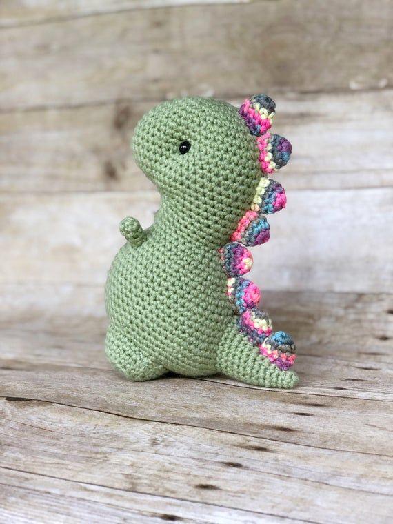 Crochet Dinosaur Toy-Amigurumi Dinosaur Toy-Crochet Dino Toy-Crochet Dino Gift-Amigurumi Dino Toy-Cr #crochetdinosaurpatterns