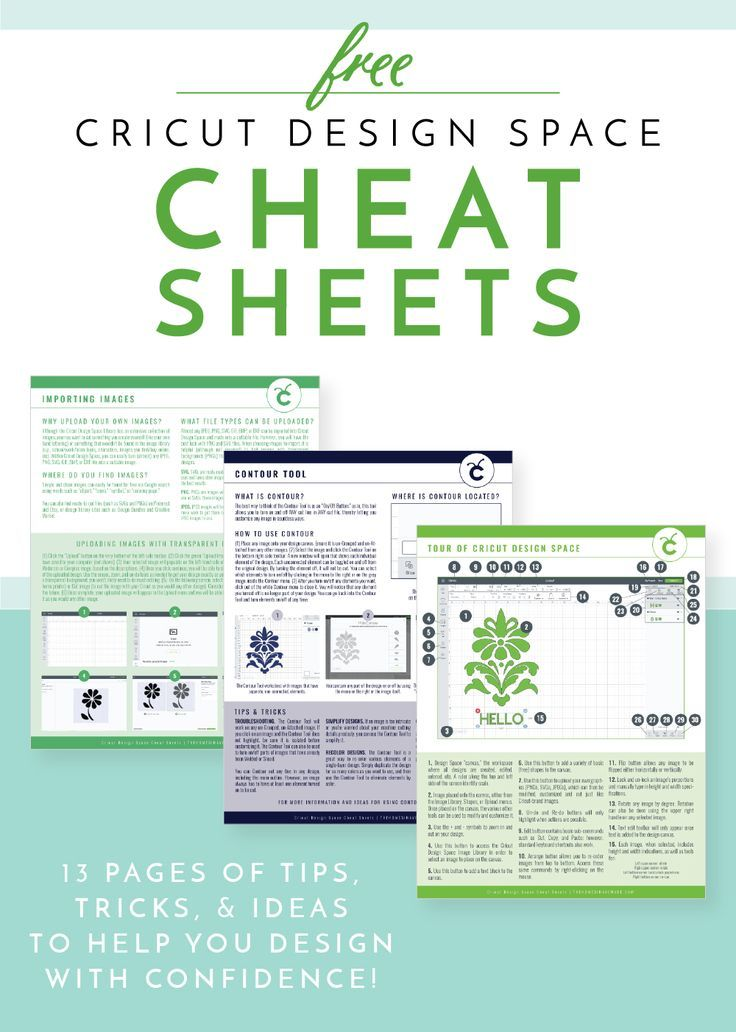 Cricut Design Space Cheat Sheets | The Homes I Have Made #cricutexploreair2projects