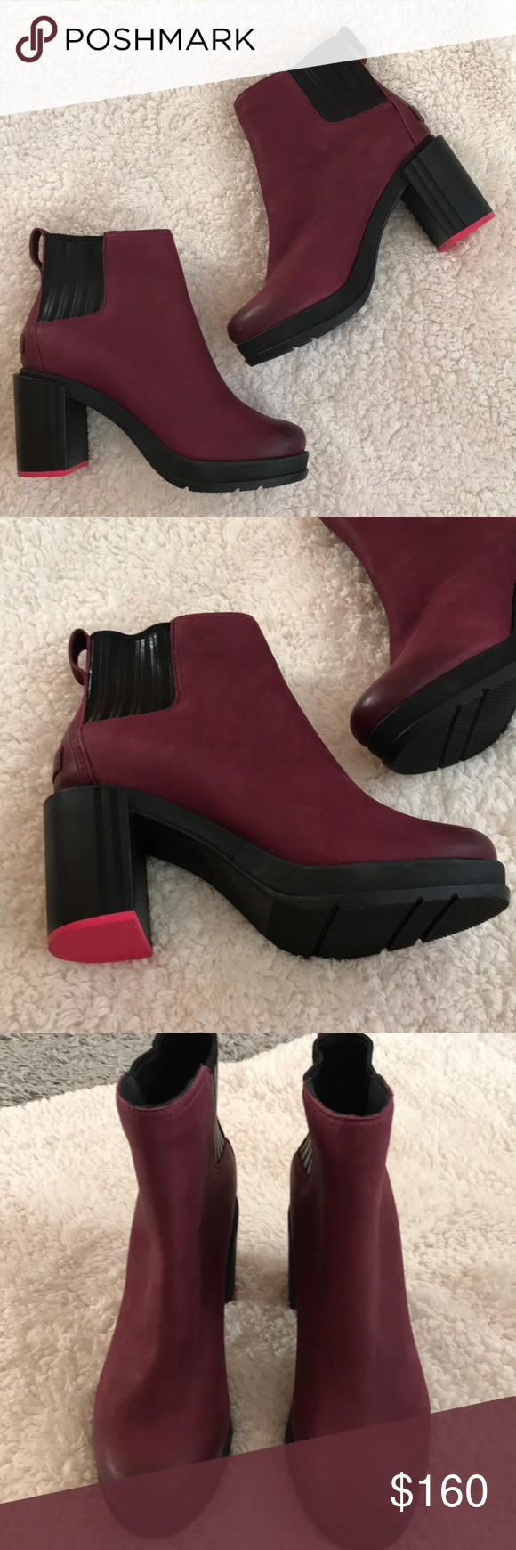18195b3ca2 New Sorel Margo Chelsea Boot wine New. Sample used for advertising. Wine  color Classic style and slide-on fit come together in this foot-hugging  ankle boot ...