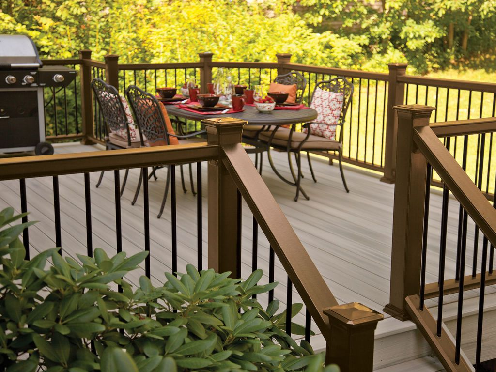 Best Horizon Decking In Greystone Mission Rail In Bronze And 640 x 480