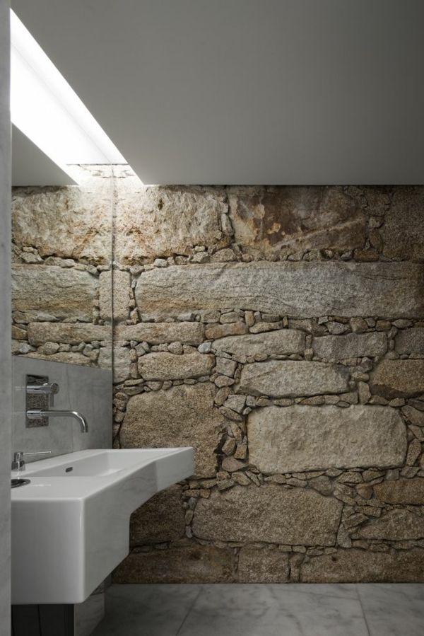 unikales Design für das Badezimmer mit Natursteinoptik Fliesen