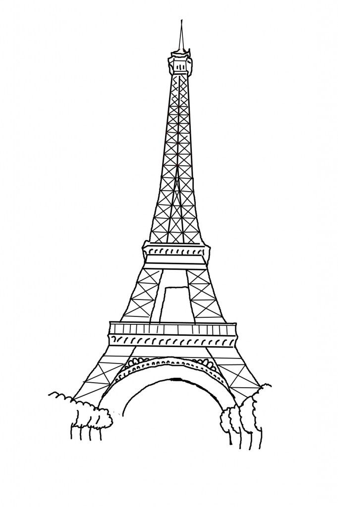 Free Printable Eiffel Tower Coloring Pages For Kids Eiffel Tower Drawing Easy Eiffel Tower Drawing Eiffel Tower Clip Art