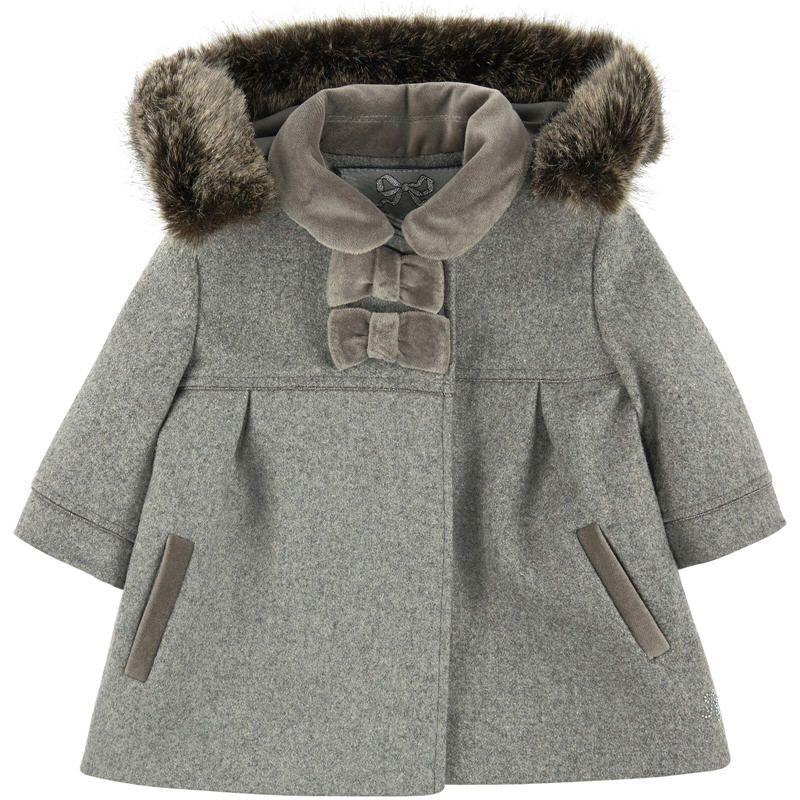 Manteau en drap de laine a capuche