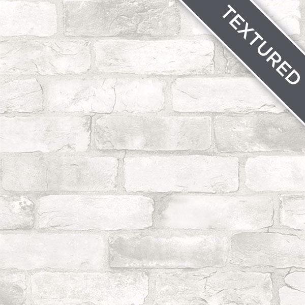 Loft White Brick Peel Stick Wallpaper Faux Brick Wallpaper White Brick Textured Brick Wallpaper