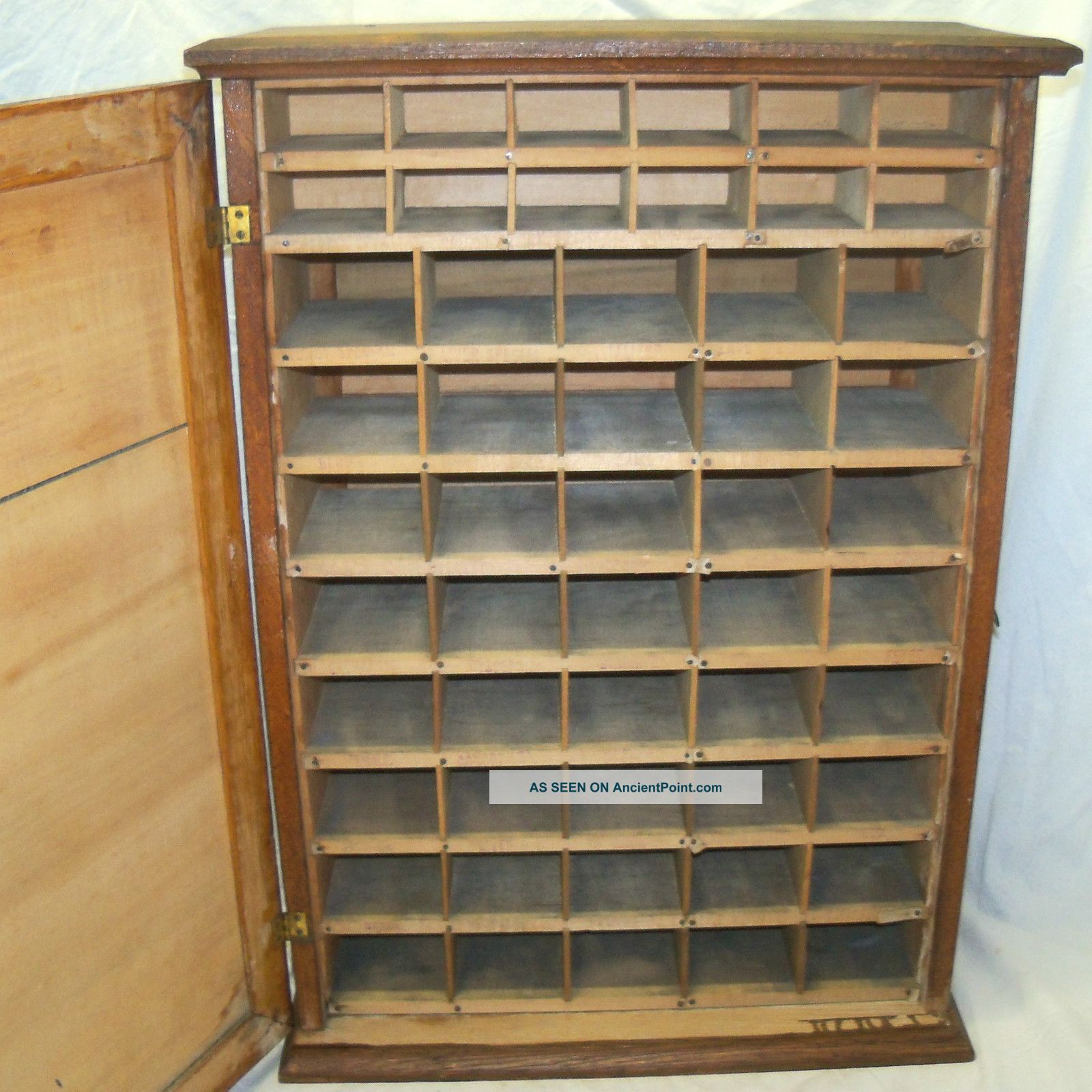 Old Antique Munyons Remedies Medicine Oak Country Store Display Cabinet