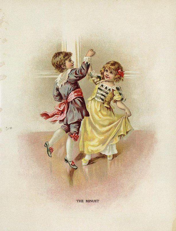 старые открытки танцы