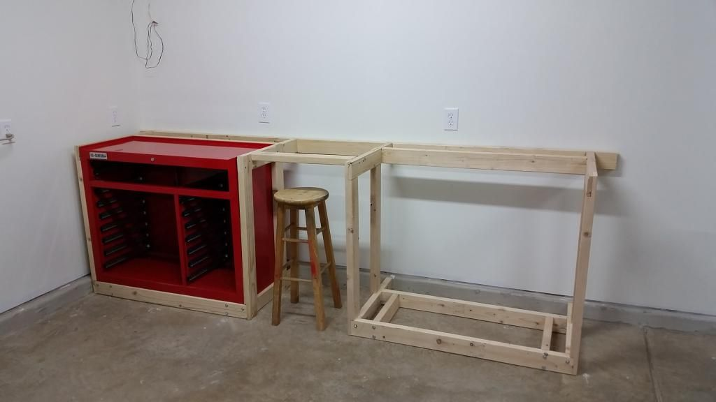 Another 44 Quot Harbor Freight Tool Box Wood Workbench The