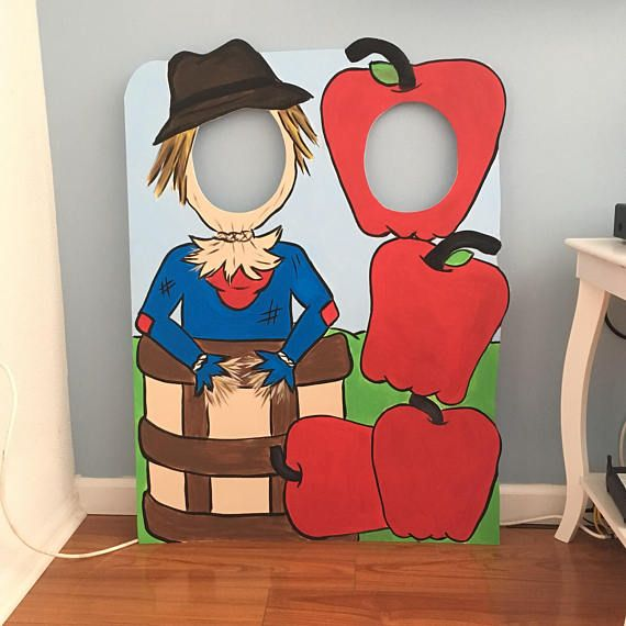 Fall Photo Booth Prop foam board Apple Picking Photo Op