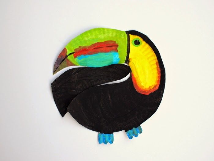 Paper Plate Toucan Craft Toucan Craft Animal Crafts For Kids