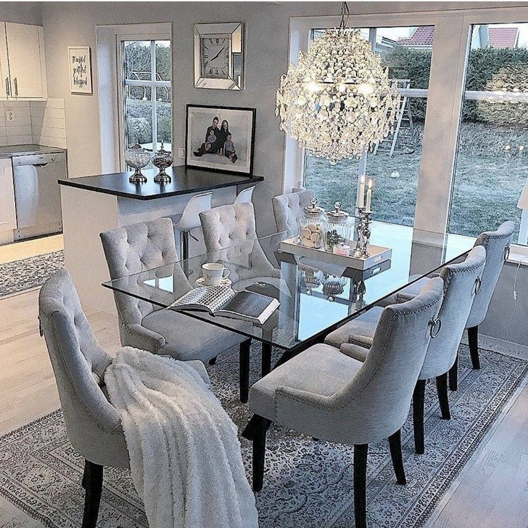 Pin By Pipsu On House And Home Luxury Dining Room Elegant Dining Room Dinning Room Decor Elegant living room tables