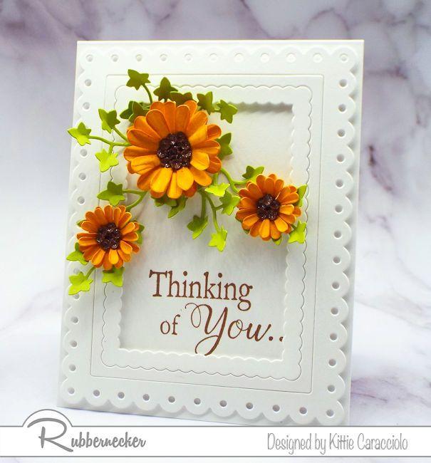 Dimensional Paper Flowers on Clean and Simple Cards | Kittie Kraft