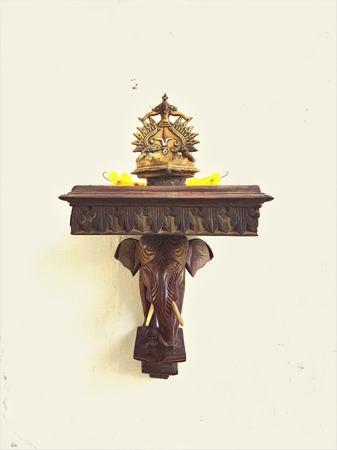 Pooja Room Door Carving Designs Google Search: Elephant Wall Mount Wooden.....Follow @ Instagram.com
