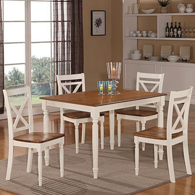 View Farmhouse Two Tone Dining Set Deals At Big Lots