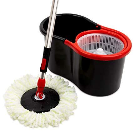 Amazon Com Mop And Bucket Set Strongest Heaviest Duty Mop Best Floor Mop Easy To Use For Professional Home Floor Cleanin In 2020 Floor Cleaner Cleaning Microfiber