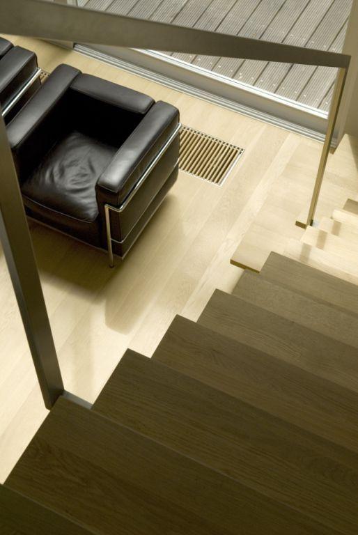 Escalera, estilo Contemporaneo color Beige, Beige, Negro,