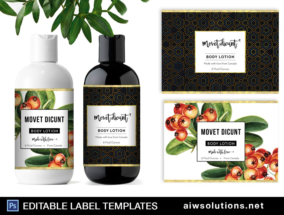 Body Lotion Label Template Id