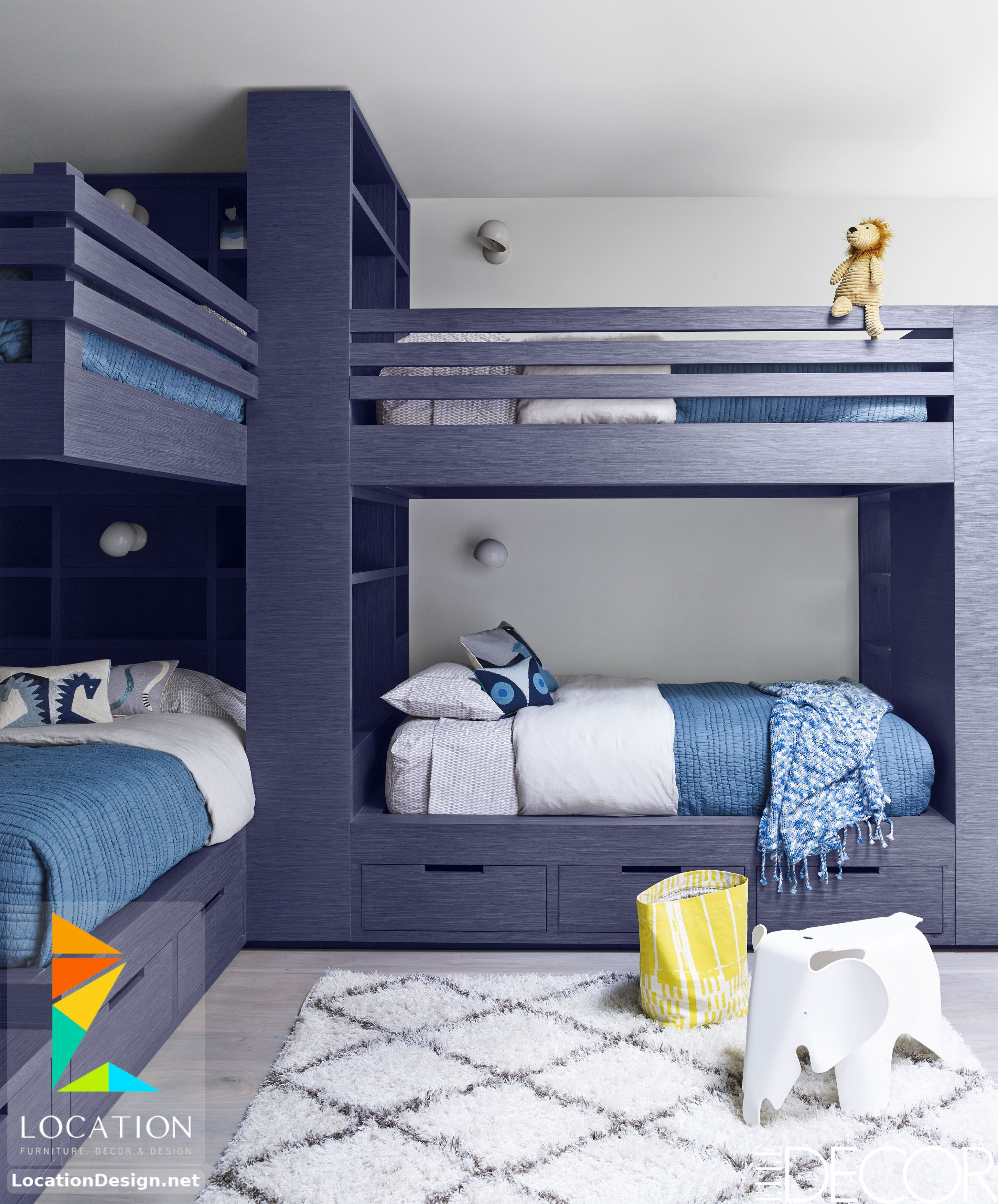 غرف نوم اولاد شباب أحدث موديلات غرف شبابي مودرن لوكشين ديزين نت Cool Bedrooms For Boys Blue Bedroom Decor Boy Bedroom Design