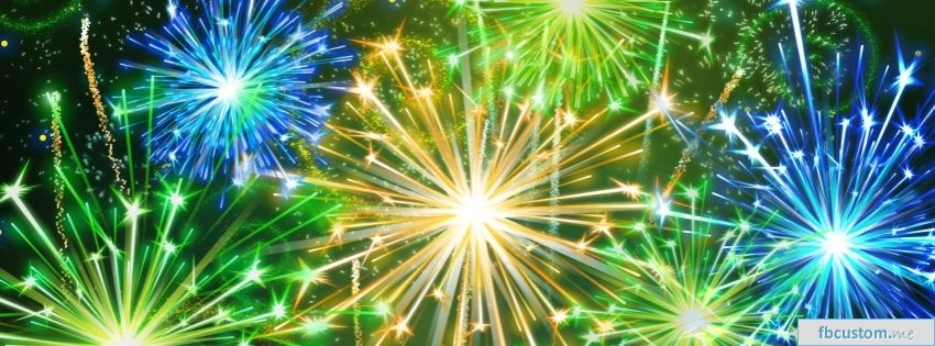 Bright Fireworks Facebook TimeLine Covers New year