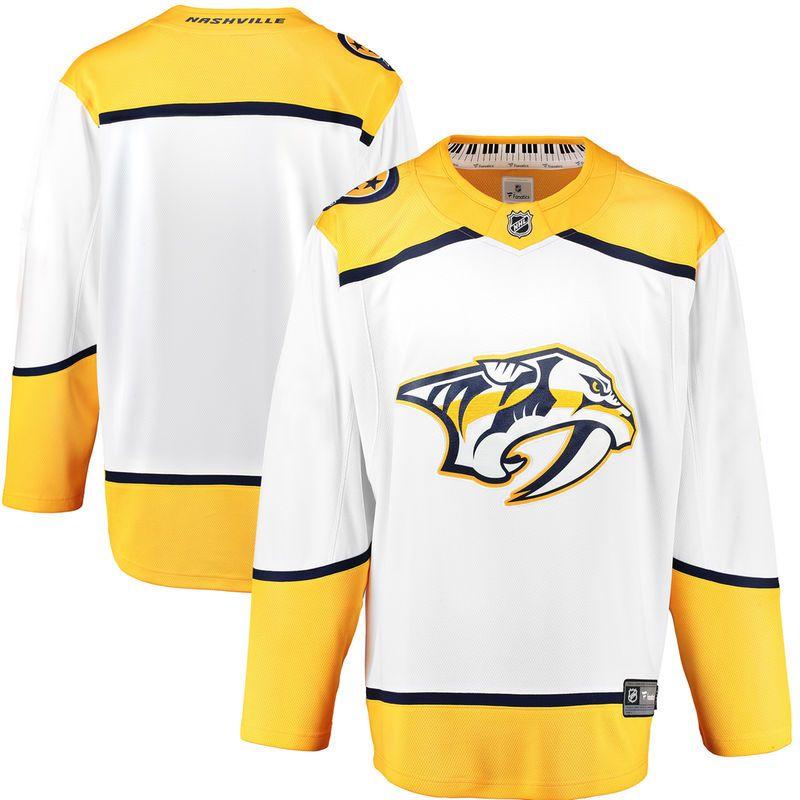 Nashville Predators Fanatics Branded Breakaway Away Jersey - White ... 598608107