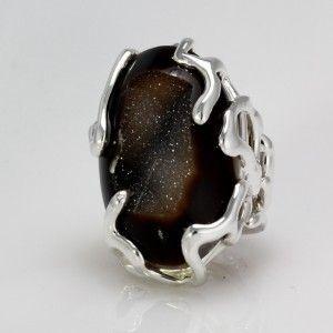Druzi Krogu Ring in 950 Fine Sterling Silver