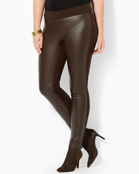 price strong packing huge discount Stretch Faux-Leather Pant - Lauren Woman Pants - RalphLauren ...