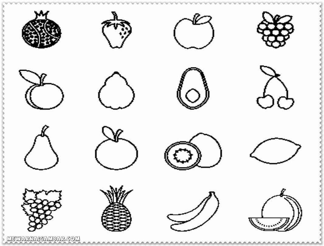 Coloring Pages Fruits And Vegetables Fresh Coloring Pages