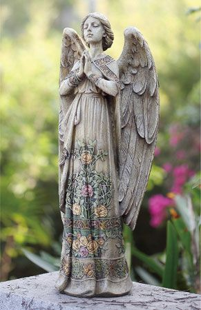 Loving This Rose Accent Praying Garden Angel Figurine On
