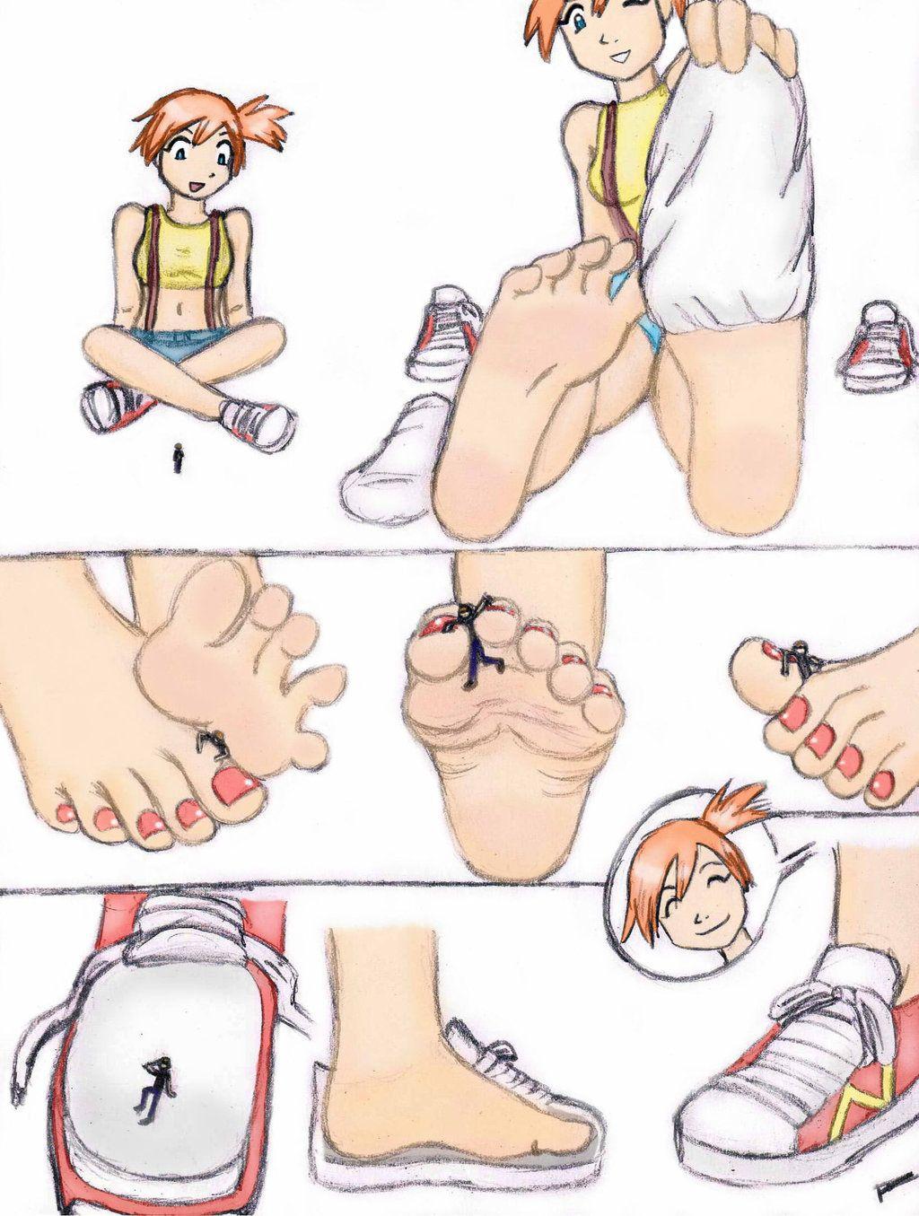 Giantess booru image 183837 barefoot color crush darkspeedxz drawing foot crush foot play - Pokemon misty feet ...