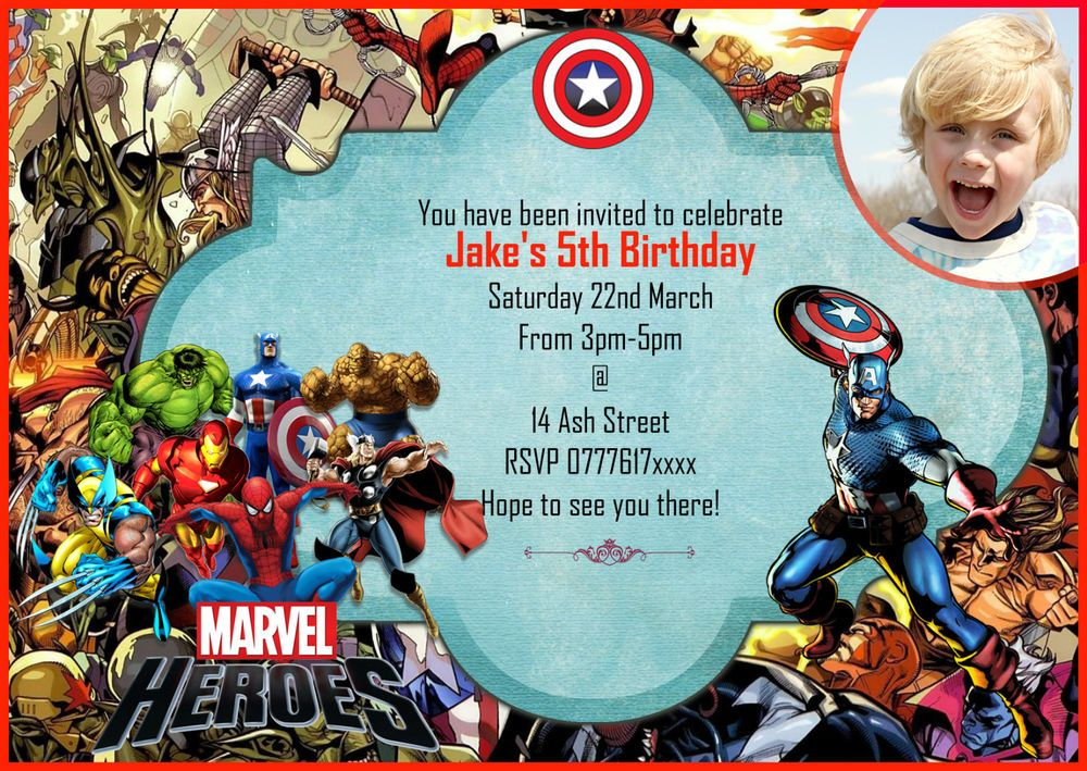 Personalised boys Birthday Party Invitations/Thank you