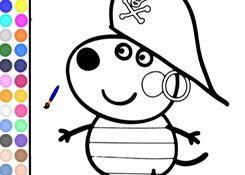 JuegosdePeppacom  Juego Colorear Danny Dog Pintar Dibujos