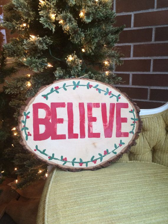 believe christmas sign round christmas sign by homestylecolor